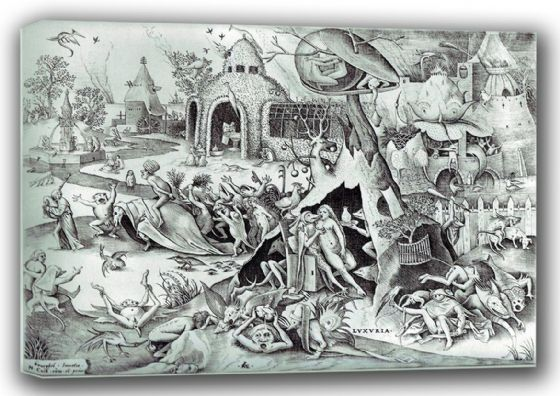 Bruegel the Elder, Pieter: Lust, The Seven Deadly Sins. Fine Art Canvas. Sizes: A3/A2/A1 (00870)